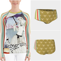 The Green Alameda Rash Guard - WhimzyTees
