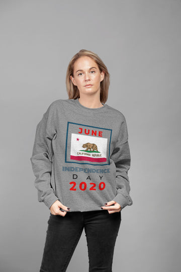 Independence Day 2020 - California HD Crewneck Sweatshirt