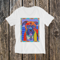Indigo Dog V-Neck Tee