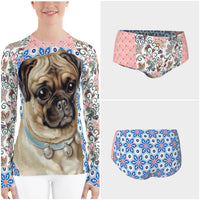 Jingle Pug Rashguard - WhimzyTees