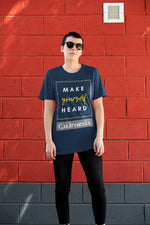 Make Yourself Heard - California Tee, Flipit Red- WhimzyTees