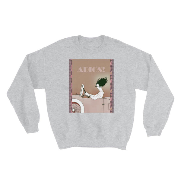 Adios! Fleece Sweatshirt, Sweatshirt- WhimzyTees