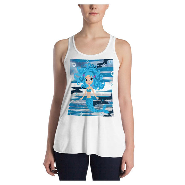Mermaid Queen (V1) Racerback Tank - WhimzyTees