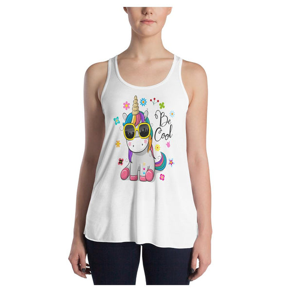 Be Cool Unicorn Racerback Tank, Tank- WhimzyTees