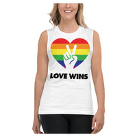 Love Wins Muscle Shirt, Tank- WhimzyTees