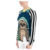 Bedtime Sloth Rash Guard, Rashguard- WhimzyTees