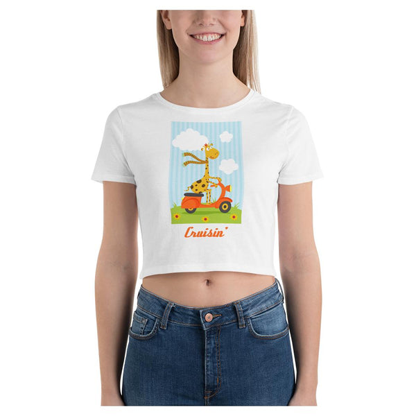 Cruisin' Scooter Crop Tee, Crop Top- WhimzyTees