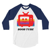 The Boob Tube Baseball Tee, Baseball Tee- WhimzyTees