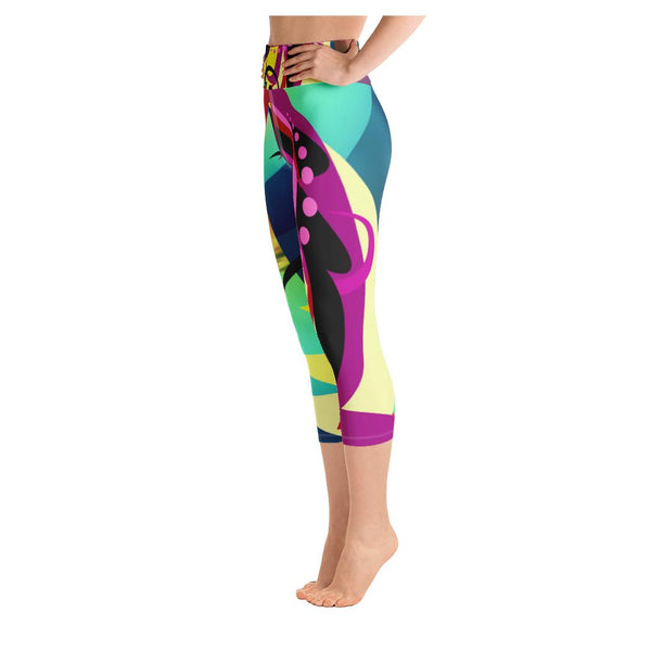 Picasso Unicorn Yoga Capris, Leggings- WhimzyTees