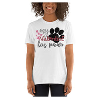 Valentine Paws Tee, Tee- WhimzyTees