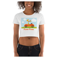 Vroom Vroom Crop Tee, Crop Top- WhimzyTees