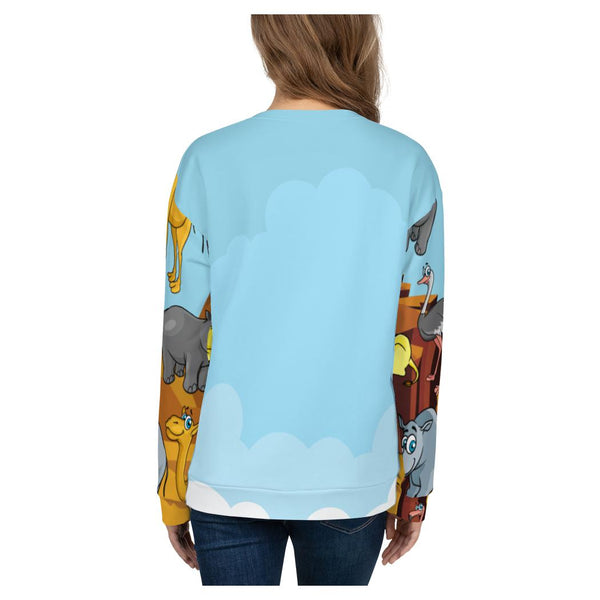 Zoo Party Sweatshirt, Sweatshirt- WhimzyTees