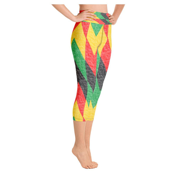 Peace Love Unity Yoga Capris - WhimzyTees