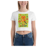 Sydney Robot Crop Tee, Crop Top- WhimzyTees