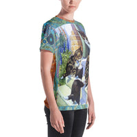 Morning Glory AOP Tee, Tee- WhimzyTees