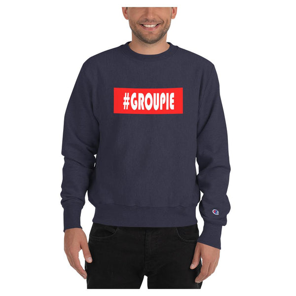 Hashtag Groupie Sweatshirt (Champion), Hoodie- WhimzyTees