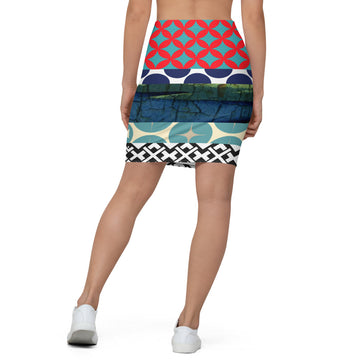 Two Cranes Pencil Skirt