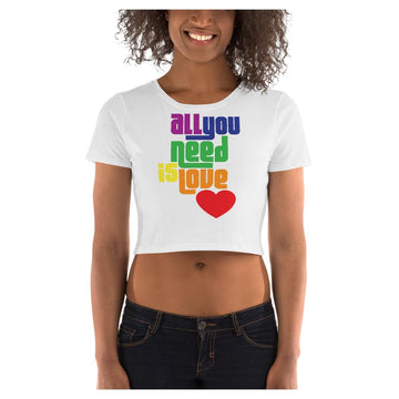 All You Need is Love Crop Tee