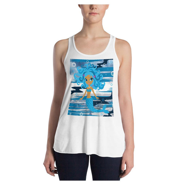 Mermaid Queen (V3)  Racerback Tank, Tank- WhimzyTees