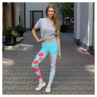 The Lucky Flamingo Leggings, Leggings- WhimzyTees