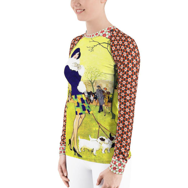 Central Park West Rashguard, Rashguard- WhimzyTees