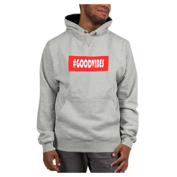 Hashtag Goodvibes Hoodie (Champion), Hoodie- WhimzyTees