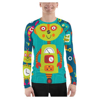 Maizie Robot Rash Guard, Rashguard- WhimzyTees