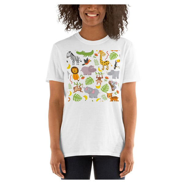 Jungle Print Tee, Tee- WhimzyTees
