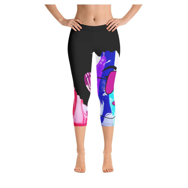Punk-Adelia Capris, Leggings- WhimzyTees