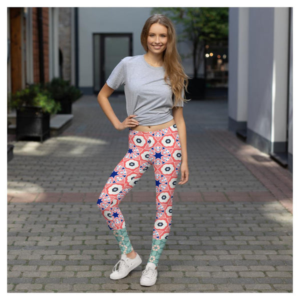 Aye-Aye Captain Leggings, Leggings- WhimzyTees