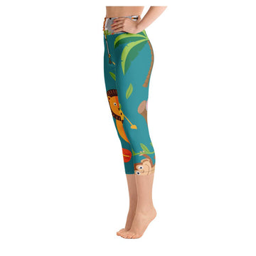 Jungle Print Yoga Capri