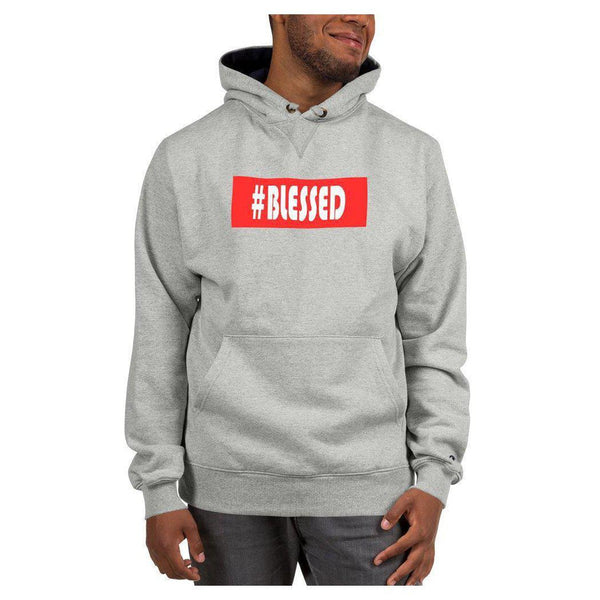 Hashtag Blessed Hoodie (Champion), Hoodie- WhimzyTees