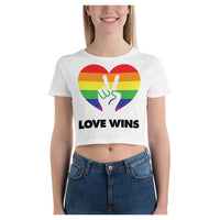 Love Wins Crop Tee, Crop Top- WhimzyTees
