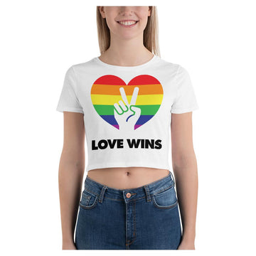 Love Wins Crop Tee
