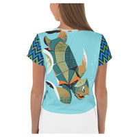 Galapagos AOP  Crop Top - WhimzyTees