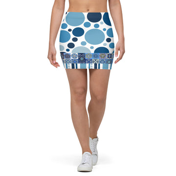 The Blue Alameda Mini Skirt