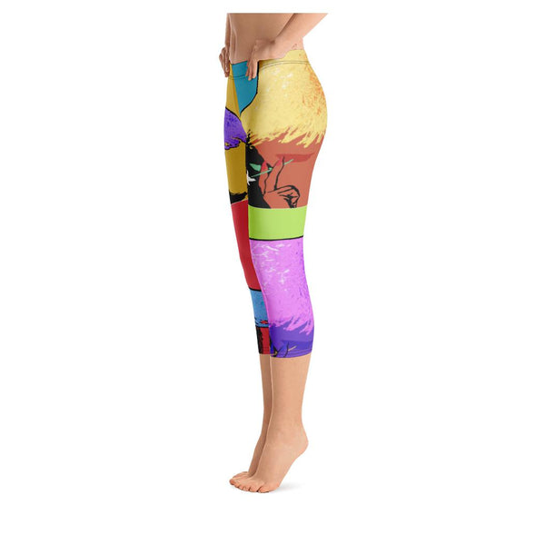 Tahiti Girl Calypso Capris, Leggings- WhimzyTees