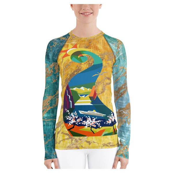 Swan Lake Olympus Rash Guard, Rashguard- WhimzyTees
