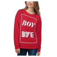 Boy BYE Sweatshirt (Red), Sweatshirt- WhimzyTees