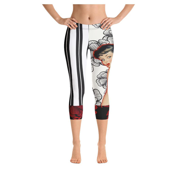 Here Kitty Kitty Supra Capris, Capris- WhimzyTees