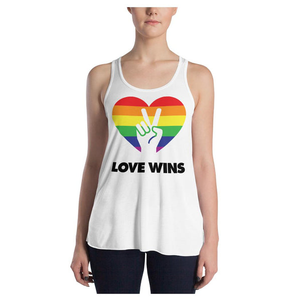Love Wins Racerback Tank, Tank- WhimzyTees