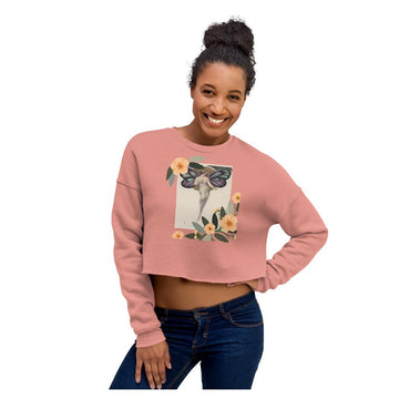 Acacia Butterfly Crop Sweatshirt