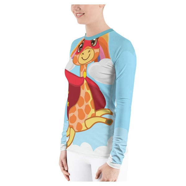 Super Giraffe Rash Guard, Rashguard- WhimzyTees