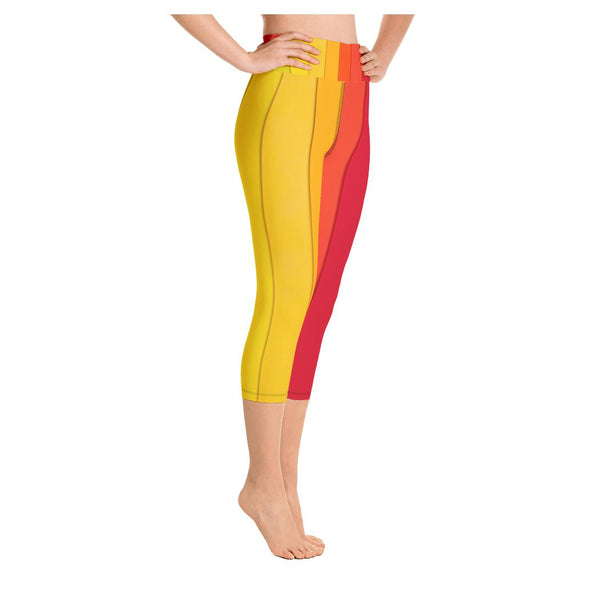 Rasta Rainbow Yoga Capris - WhimzyTees