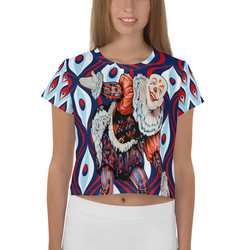 Court Jester AOP Crop Tee (Blue)