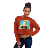 Tahiti Girl Crop Sweatshirt, Sweatshirt- WhimzyTees