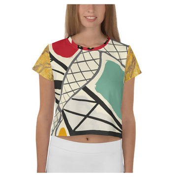 Paris Folies AOP Crop Top