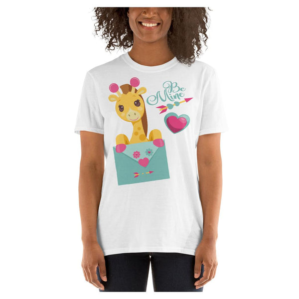 Be Mine Giraffe Tee, Tee- WhimzyTees