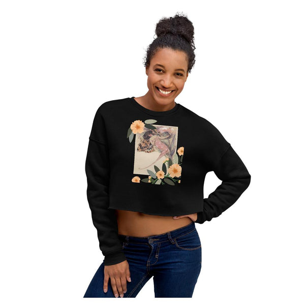 Sensibility Butterfly Crop Sweatshirt - WhimzyTees