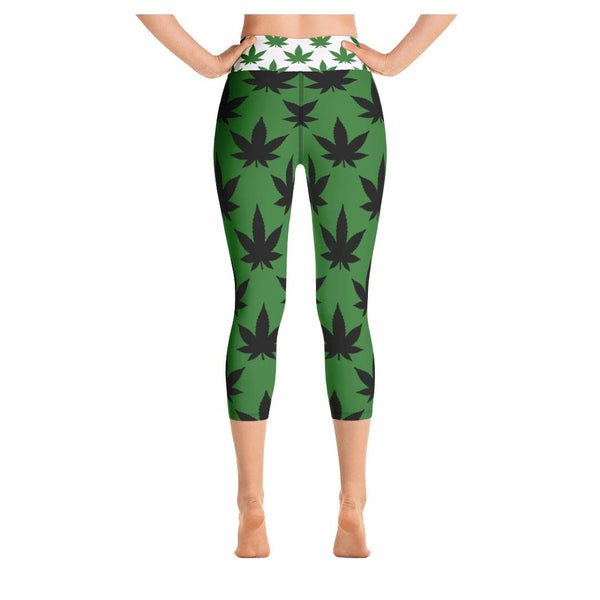 Green Highway Yoga Capris - WhimzyTees